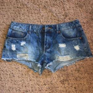 Salvaje Denim Distressed Shorts